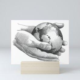 Earth In Hands Mini Art Print