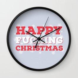 Christmas for Grumps Wall Clock