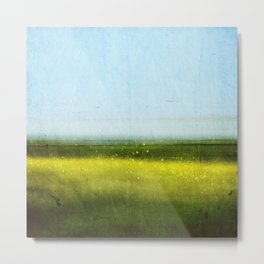 Abstract landscape: Rapeseed fields in early summer Metal Print