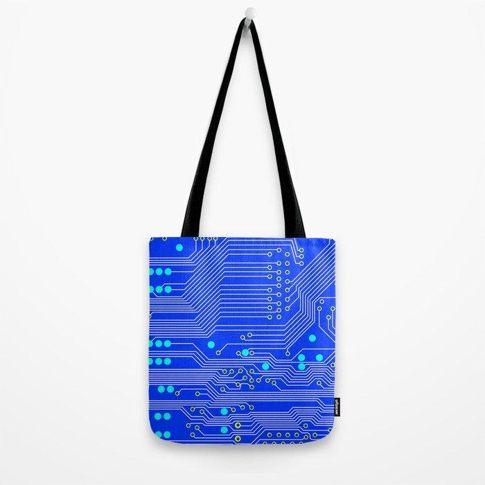 Blue Circuit Board  Tote Bag