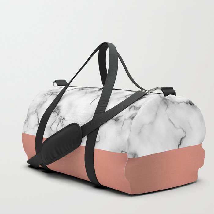 Marble & copper Duffle Bag