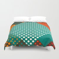 dots Duvet Covers featuring Dots by SensualPatterns