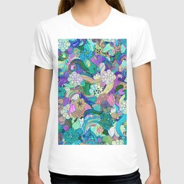 Colorful Wild Flowers Collage T-shirt