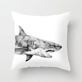 Great White Shark Throw Pillow