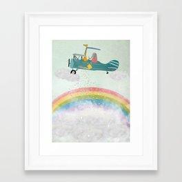 creating rainbows Framed Art Print