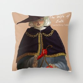 the wife of Bath Throw Pillow