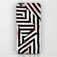 striped iPhone & iPod Skins featuring Striped by ST STUDIO