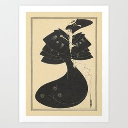 AUBREY BEARDSLEY Salome Oscar Wilde The Black Cape Art Print