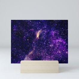 Ultra violet purple abstract galaxy Mini Art Print