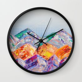 Mountainous 1 Wall Clock