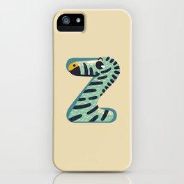 Z for Zebra iPhone Case