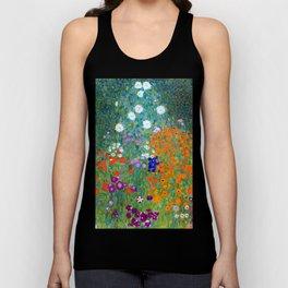 Gustav Klimt Flower Garden Unisex Tank Top