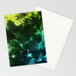 Galaxy Blue&Green Stationery Cards