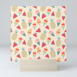 Delicious summer pattern Mini Art Print