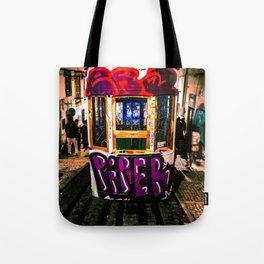 Trolly Graffiti Tote Bag