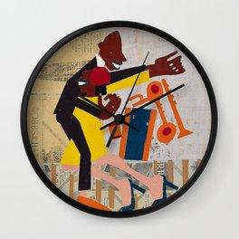 African American Masterpiece 'Jitterbugs' by William Johnson Wall Clock