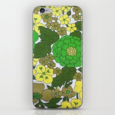 Retro floral sheets greens iPhone & iPod Skin
