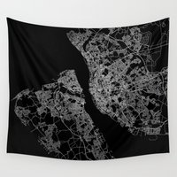 liverpool Wall Tapestries featuring Liverpool by Line Line Lines