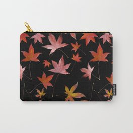 Dead Leaves over Black Carry-All Pouch
