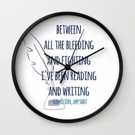 READING AND WRITING | HAMILTON Wall Clock