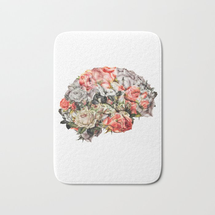 Flower Brain Bath Mat