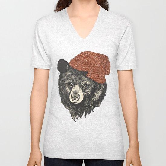 zissou the bear Unisex V-Neck