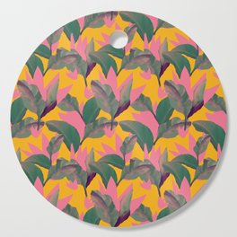 Retro Luxe Lilies Pattern Cutting Board