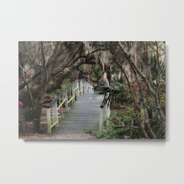 Southern moss and flowers Metal Print