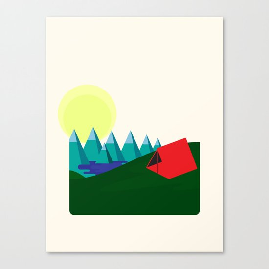 Camping is fun! Canvas Print