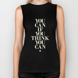 You Can If You Think You Can Biker Tank