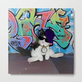 Cat Attitude.....Kitten and Graffiti Wall Metal Print
