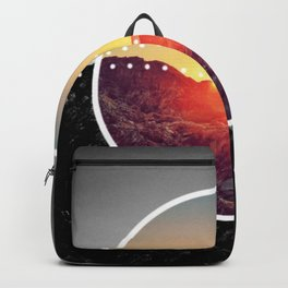 Peel Sunset - Circle graphic Backpack