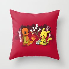 Toastymon Throw Pillow