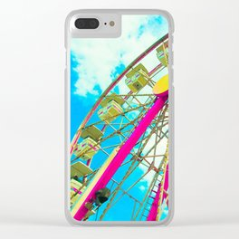 Candy Colored Ferris Wheel Clear iPhone Case