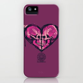 Love Skulls Redux iPhone Case