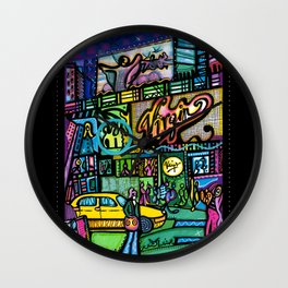 Time square montage 1  Wall Clock