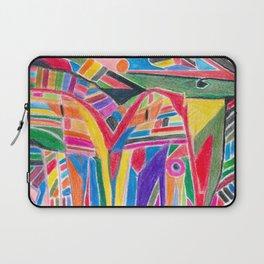 """colour jungle"" - tribal abstract art Laptop Sleeve"