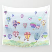 ballon Wall Tapestries featuring Hot Air Ballon Festival by J Square Presents