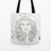 allison argent Tote Bags featuring Allison by Wolfhearted