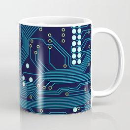 Dark Circuit Board Coffee Mug