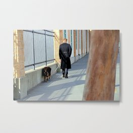 The Shadow Striper's Dog Walk Metal Print