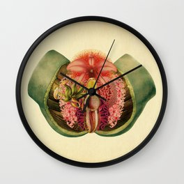 Lady Garden Botanical Wall Clock