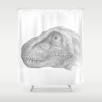 trex Shower Curtains featuring TRex by KC Gillies