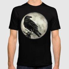 Raven Mens Fitted Tee MEDIUM Black