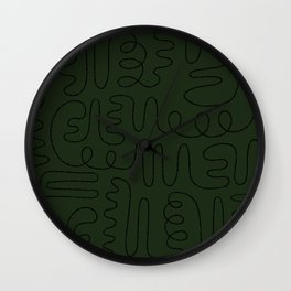 Loops & Curves - Green Wall Clock