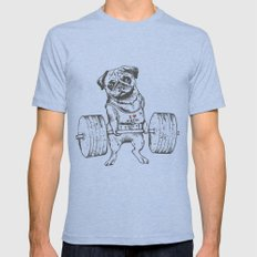 Pug Lift Mens Fitted Tee MEDIUM Tri-Blue