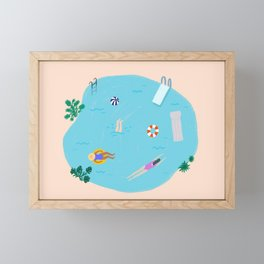 Day at the Pool Framed Mini Art Print