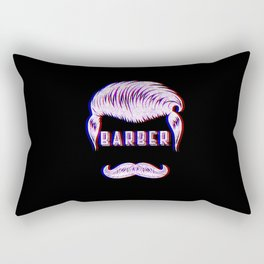 Barber Funny Vintage Classic Barber Retro Distressed Gift Rectangular Pillow