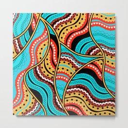 Ethnic Tribal Pattern Art N4 Metal Print
