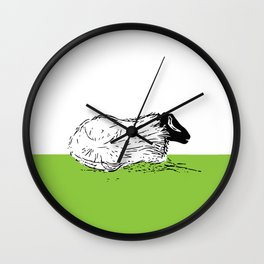 Lounging Wall Clock